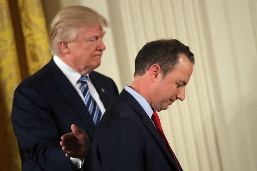 Trump replaces chief of staff Priebus with retired General Kelly