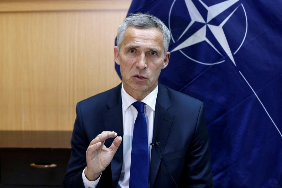 NATO Secretary-General Jens Stoltenberg speaks during an interview in Kabul, Afghanistan September 27, 2017. Reuters