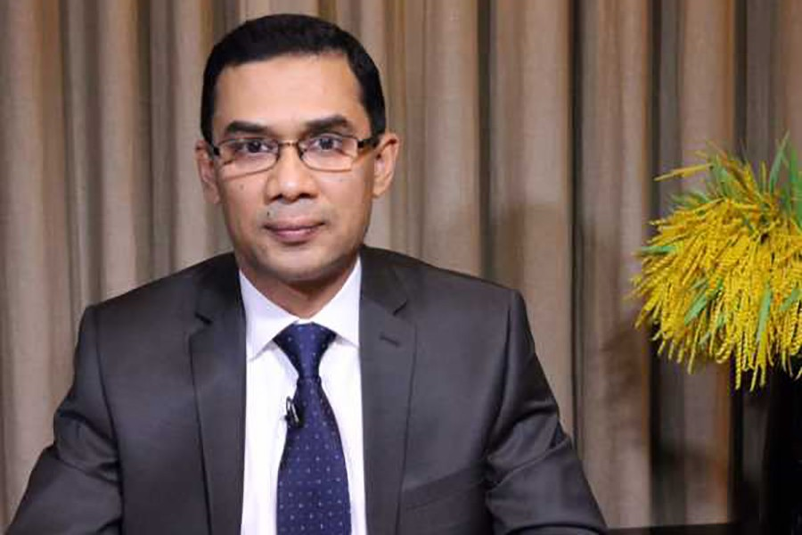 According to the case, Tarique Rahman instigated his party men by delivering 'provocative' speech against law enforcers which led the country to anarchy at that time. - File photo