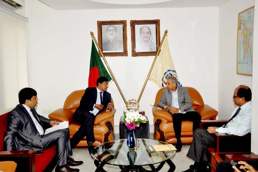 BIMSTEC delegation in talks with FBCCI officials in Dhaka on Wednesday.