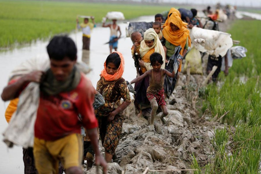 More than 0.60 million Rohingya Muslims have fled into Bangladesh from Rakhine state in Buddhist-majority Myanmar since security forces responded to Rohingya militants' attacks in August with a crackdown. - Reuters file photo