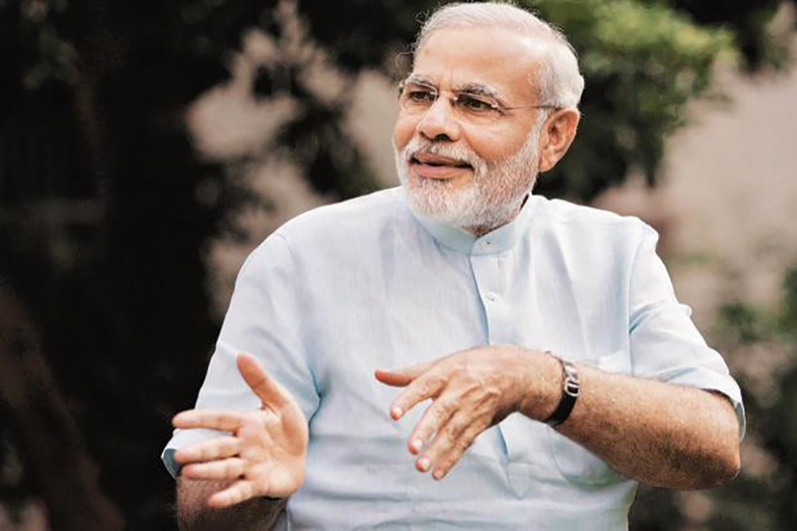 Modi's favourable rating is 31 percentage points higher than that of Sonia Gandhi, the leader of the main opposition Congress party. - Reuters file photo
