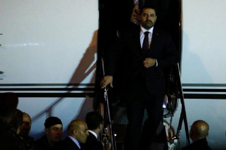 Saad Hariri arrived in Beirut shortly before midnight on Tuesday. Reuters