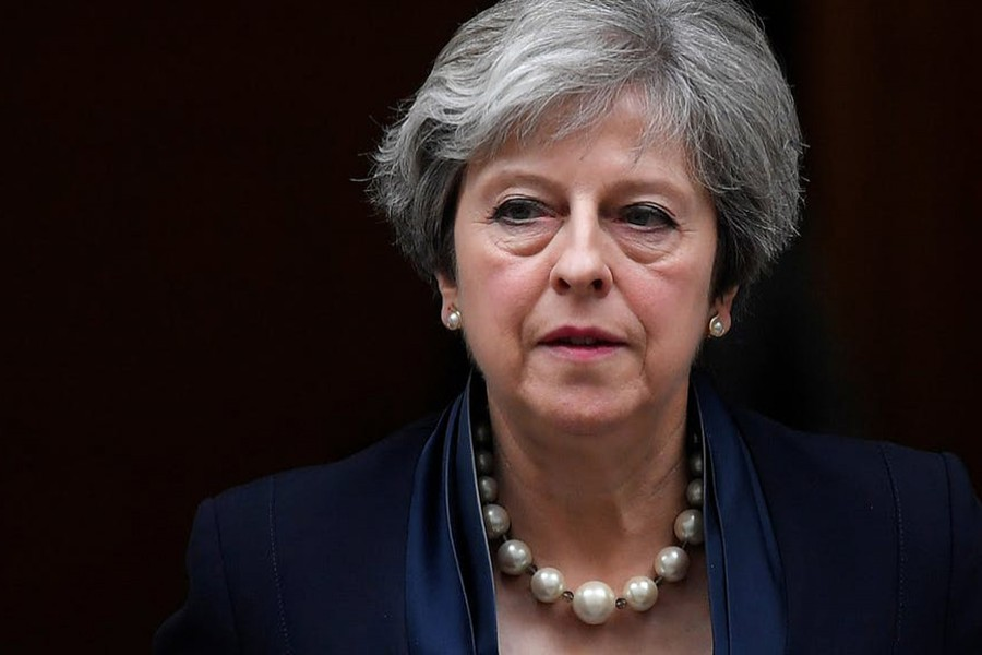 Officials said Britain had thwarted nine plots in the last 12 months. Reuters file photo shows British Prime Minister Theresa May.