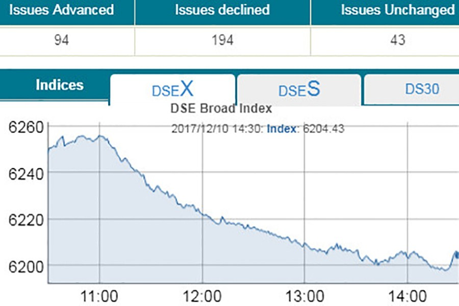 DSE plunges to six-month low
