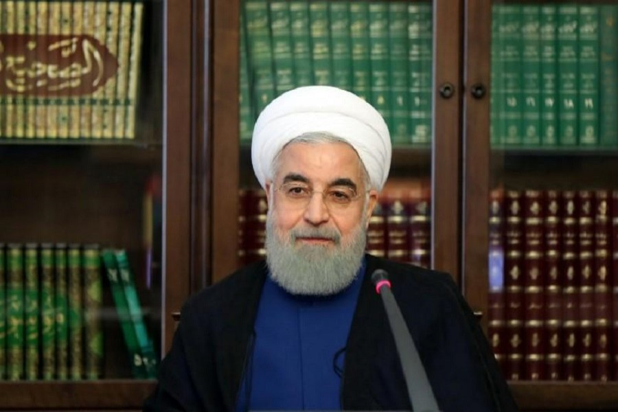 Iranian President Hassan Rouhani attends a meeting of the Social Council of Iran, in Tehran, Iran, October 31, 2017. President.ir/Handout via REUTERS