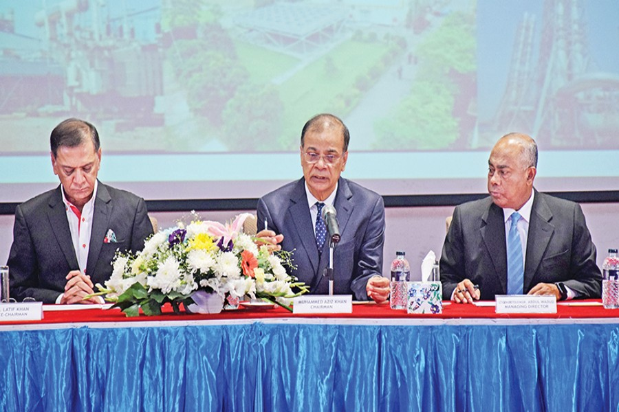 Chairman of Summit Group of Companies Muhammed Aziz Khan presiding over the 16th Extra-Ordinary General Meeting (EGM) of Summit Power Limited (SPL) in the city