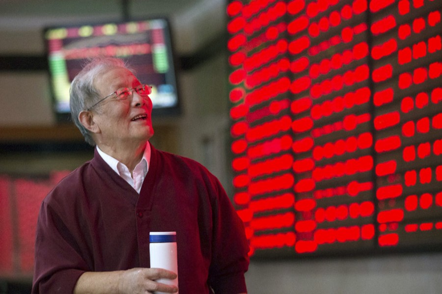 China shares end 2017 with strong gains