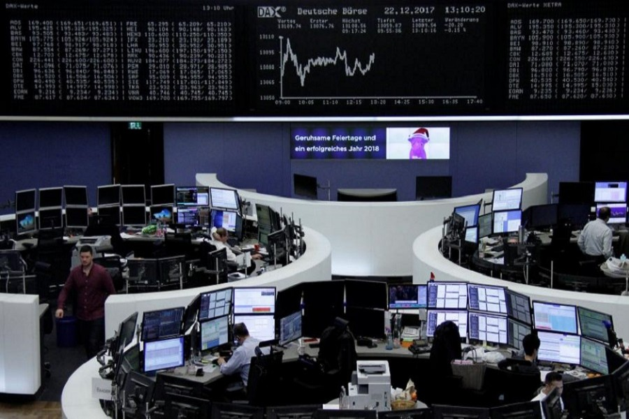 The German share price index, DAX board, is seen at the stock exchange in Frankfurt, Germany, December 22, 2017. Reuters