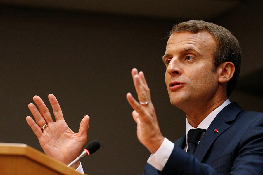 French President Emmanuel Macron. - Reuters file photo