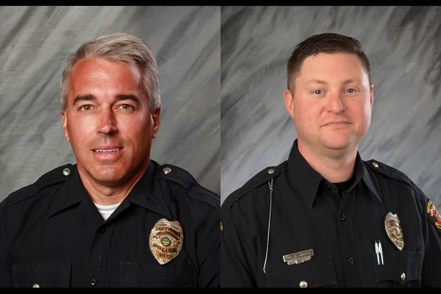 The two officers, Anthony Morelli (left) and Eric Joering (right) of Westerville Division of Police (WPD) are seen in the photo. (Photos collected from Reuters)