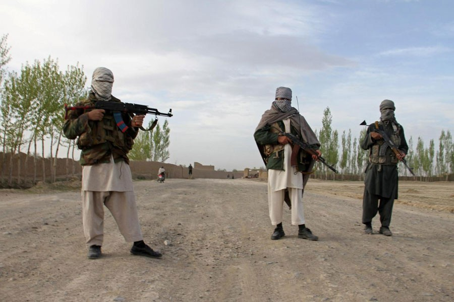 Members of the Taliban stand at the site of the execution of three men in Ghazni province, Afghanistan, April 18, 2015. (Reuters file photo used for representational purpose)