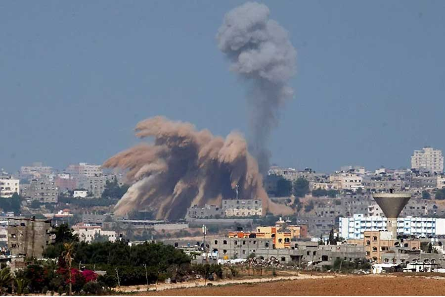 The Israeli army intensified its offensive on the Hamas-run Gaza Strip, striking Hamas sites and killing at least 8 people on the second day of a military operation it says is aimed at quenching rocket fire against Israel. Picture: Reuters