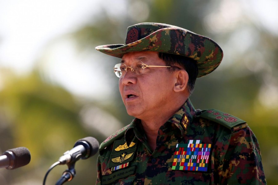 Myanmar army commander-in-chief Senior General Min Aung Hlaing. - Reuters