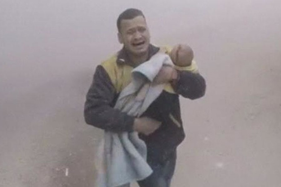 At least 20 children were among those died in the assault carried out by the Syrian government forces. - AP photo