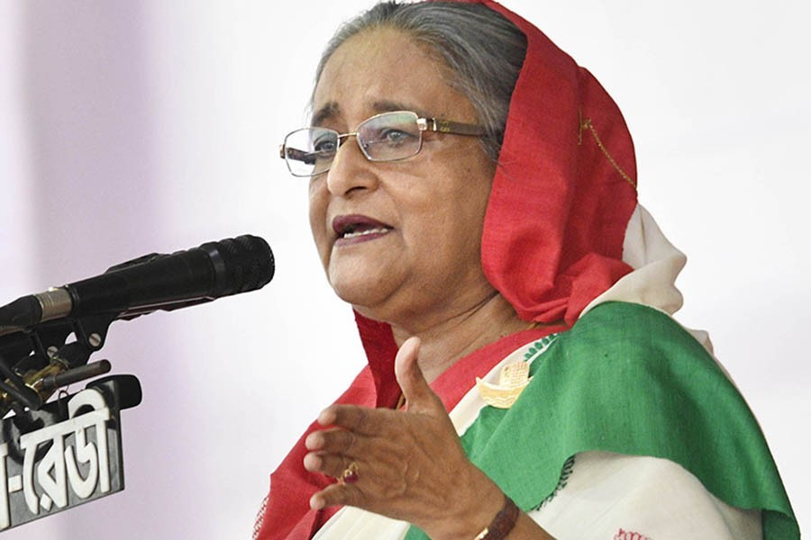 Hasina questions whether BNP's movement is to save 'thief'