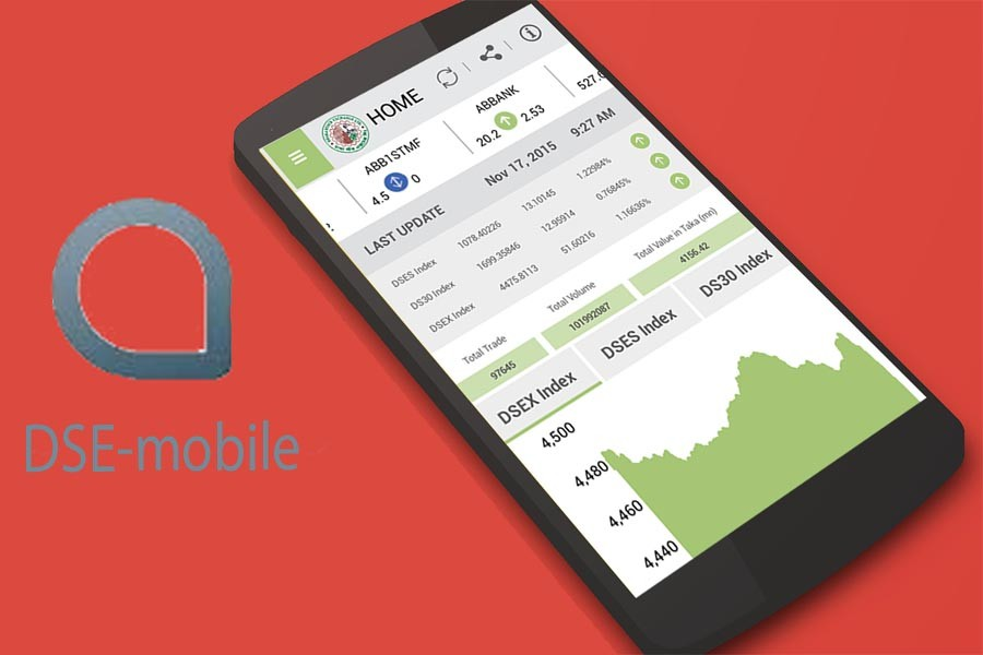 Trading on DSE mobile app creeping up