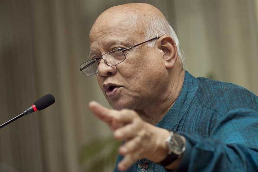 Finance Minister Abul Maal Abdul Muhith: File photo