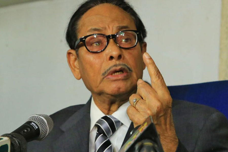 Jatiya Party chairman HM Ershad. File Photo