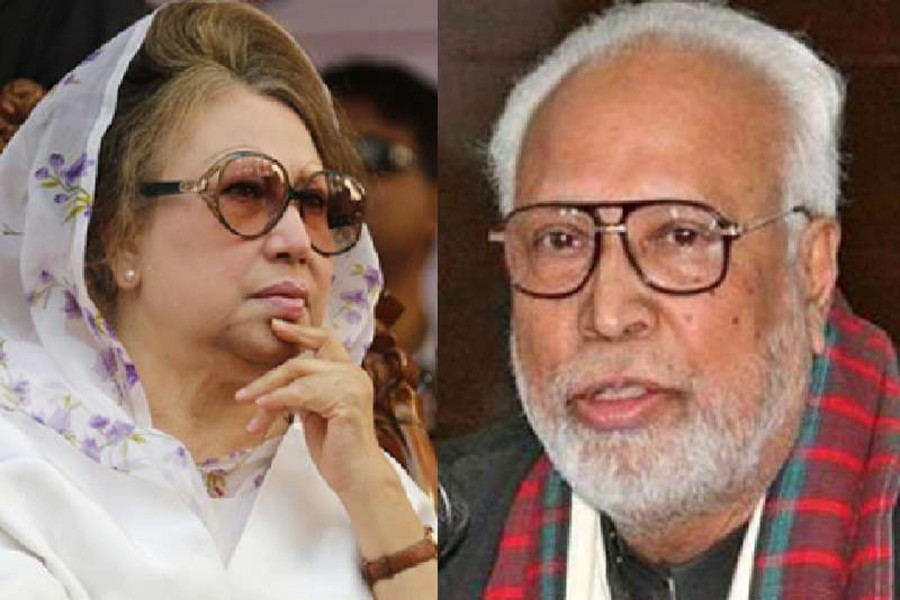 BNP Chairperson Khaleda Zia (L) and Krishak Sramik Janata League President Kader Siddiqui are seen in this photo collage