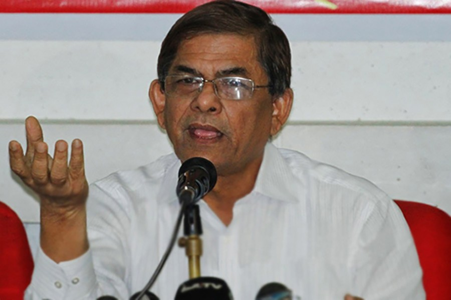 File photo shows BNP Secretary General Mirza Fakhrul Islam Alamgir - Collected