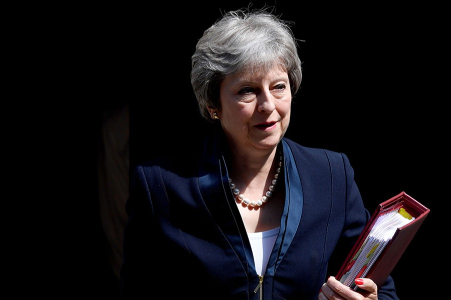 British Prime Minister Theresa May seen in this undated Reuters photo