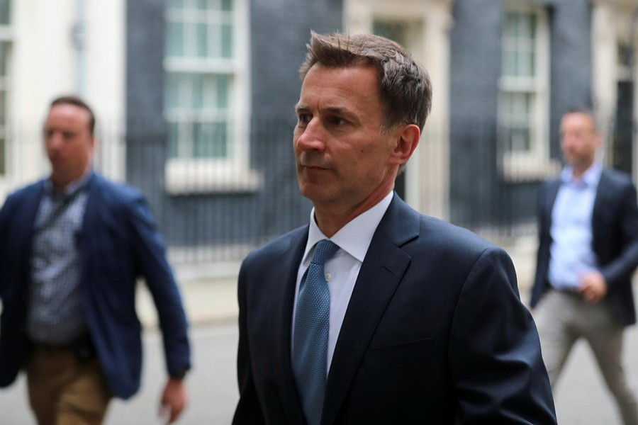 Britain's Foreign Secretary Jeremy Hunt is seen outside Downing Street in London, Britain July 20,2019 — Reuters photo
