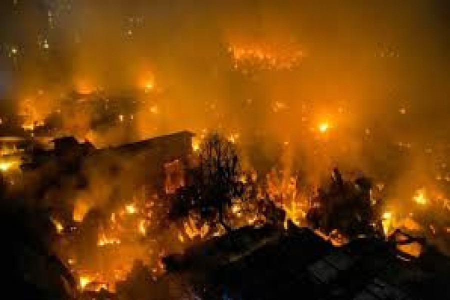 Fires in old Dhaka and Mirpur