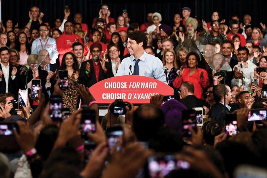 Prime Minister Justin Trudeau at his first rally of the 2019 campaign in Vancouver on September 11.        —Photo: Reuters