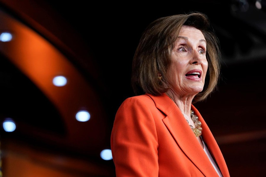 Speaker of the House Nancy Pelosi (D-CA) speaks during a media briefing ahead of a House vote authorising an impeachment inquiry into US President Trump on Capitol Hill in Washington, US, October 31, 2019. Reuters/Files