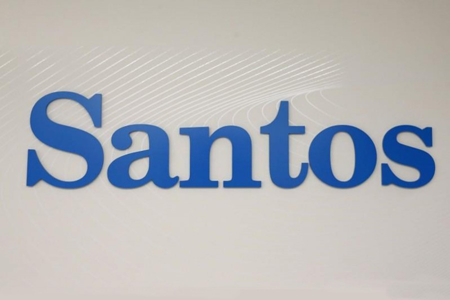 The logo of Australian oil and gas producer Santos Ltd is pictured in Sydney on February 15, 2016 — Reuters/Files