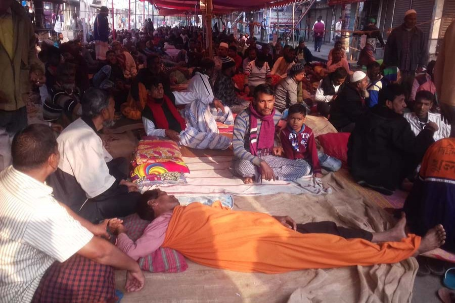 Jute mills workers fall sick on third day of hunger strike