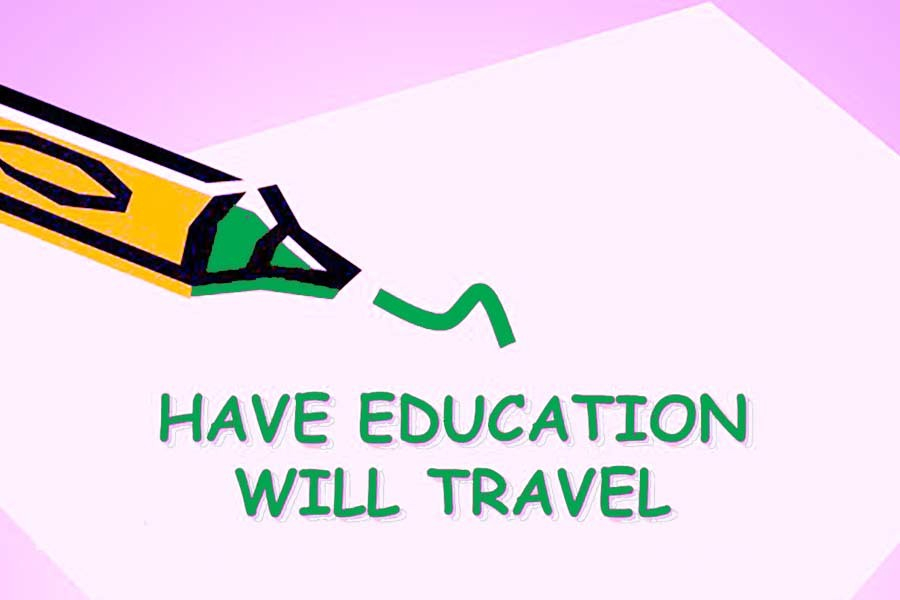 New motto for advancement: 'Have education, will travel'