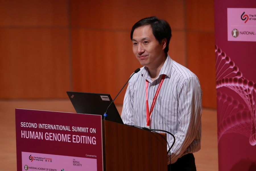 Scientist He Jiankui attends the International Summit on Human Genome Editing at the University of Hong Kong in Hong Kong, China November 28, 2018. REUTERS/Stringer