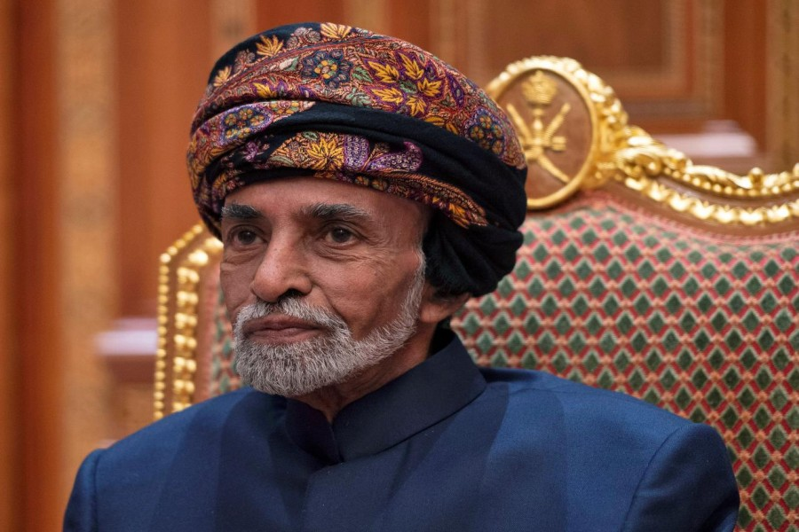 FILE PHOTO: Sultan of Oman Qaboos bin Said al-Said at the Beit Al Baraka Royal Palace in Muscat, Oman January 14, 2019. Andrew Caballero-Reynolds/Pool via REUTERS