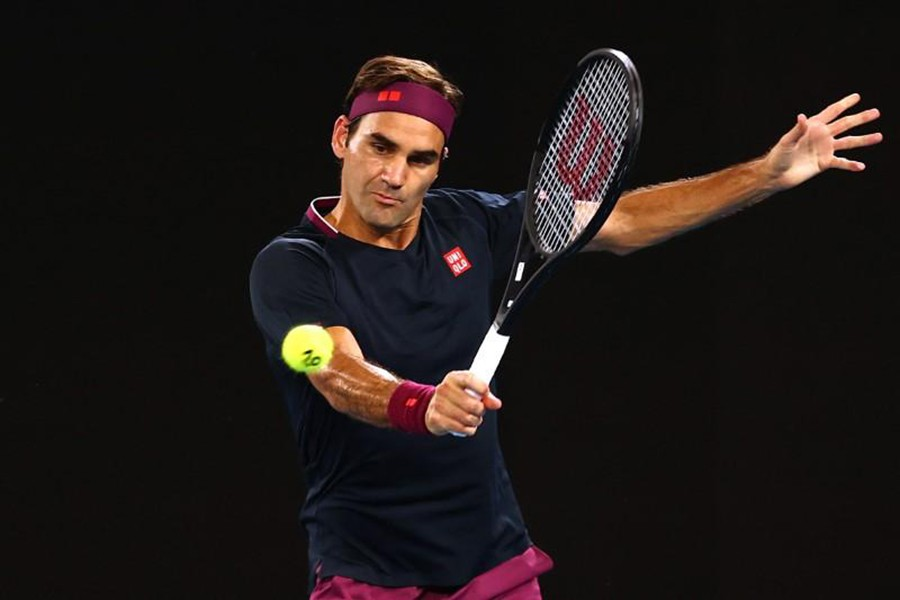 Switzerland's Roger Federer in action during the match against Steve Johnson of the US — Reuters photo