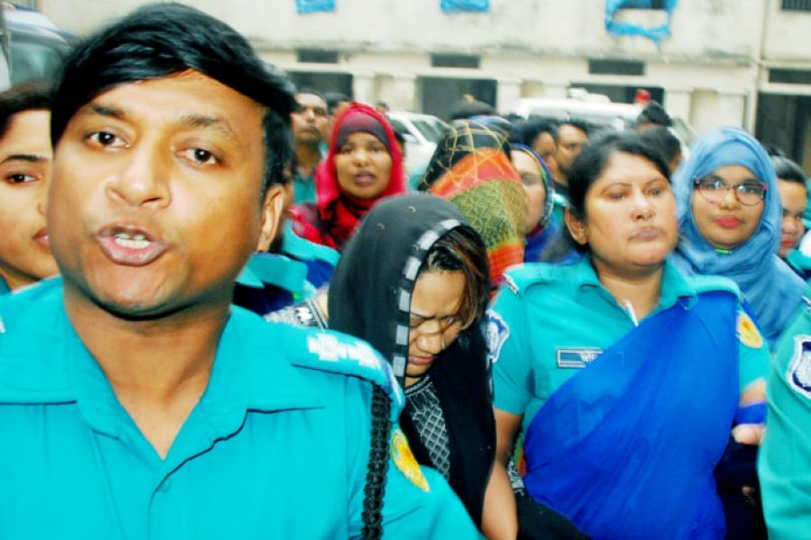 Papia, Sumon on 15-day remand in three cases