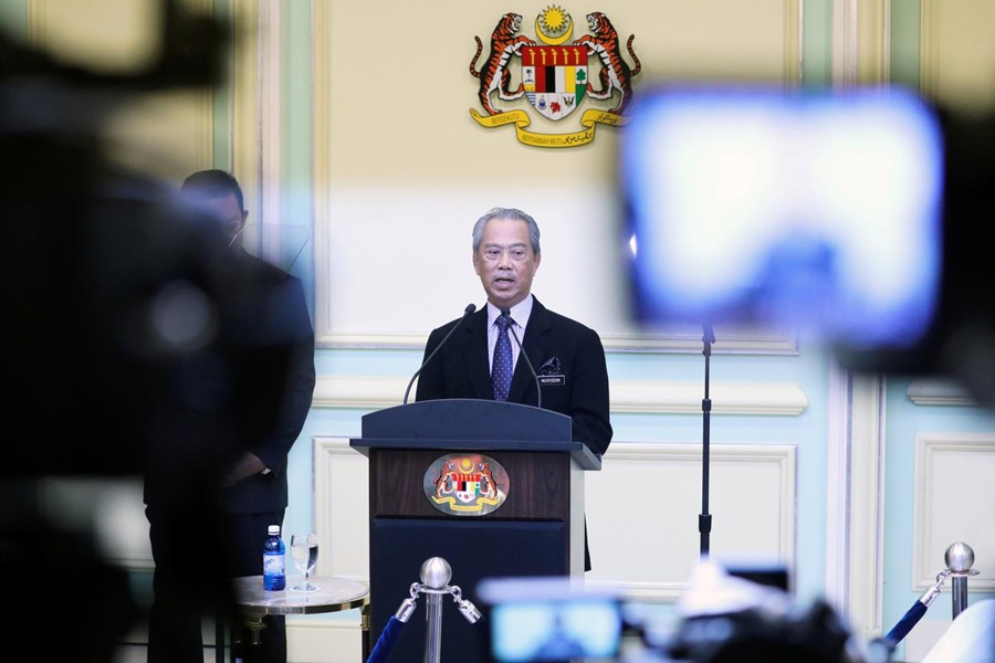 Malaysia's Prime Minister Muhyiddin Yassin speaks during his cabinet announcement in Putrajaya, Malaysia on March 9, 2020 — Reuters/Files