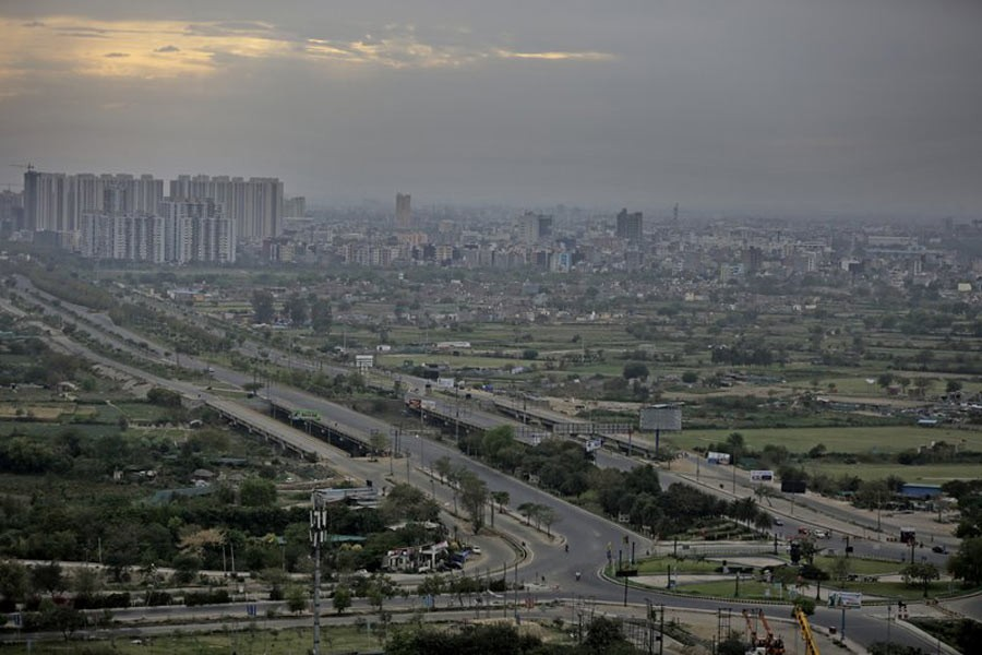 Roads are seen deserted during a lockdown in Greater Noida, a suburb of New Delhi in India on Thursday. –AP Photo