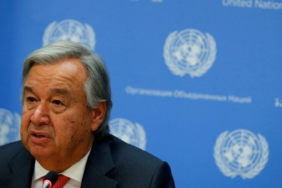 UN secretary general Antonio Guterres speaks at a news conference ahead of the 72nd United Nations General Assembly at UN headquarters in New York, September 13, 2017. — Reuters/Files