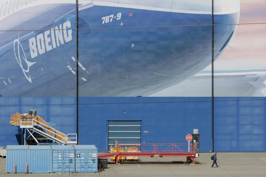 A worker leaves the Boeing Everett Factory, amid the coronavirus disease (COVID-19) outbreak, in Everett, Washington, US on March 23, 2020 — Reuters photo