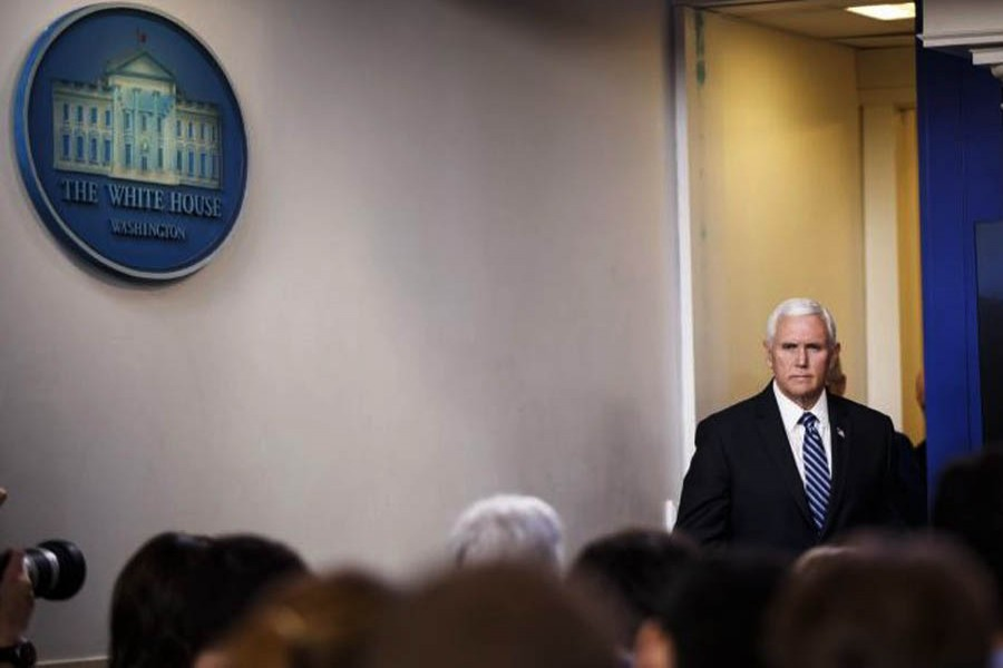 US Vice President Pence limits social contact