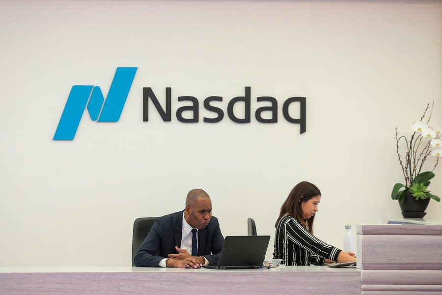People work in the client experience space at the Nasdaq Market site in New York, US on May 2, 2019 — Reuters/Files