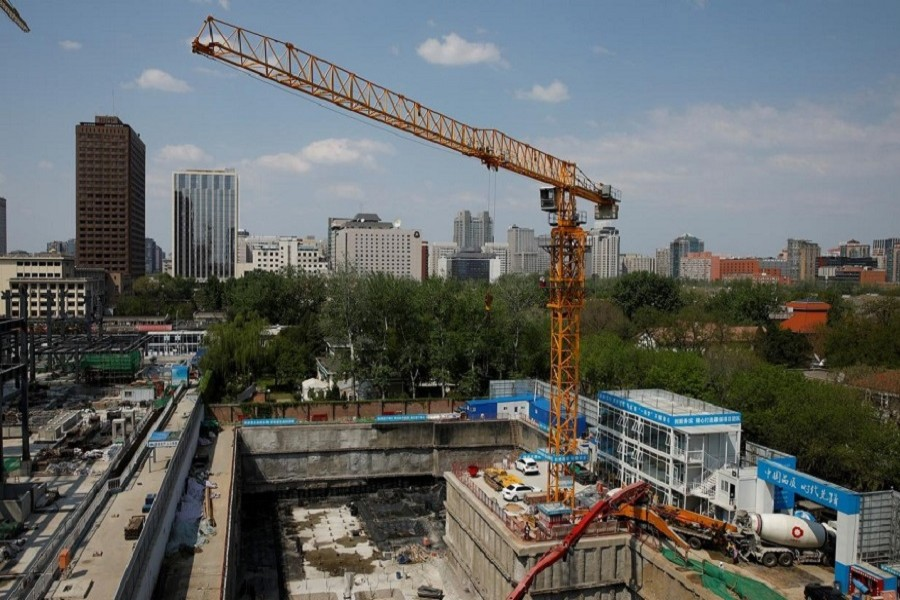 A crane is seen at a construction site in Beijing, following an outbreak of the novel coronavirus disease (COVID-19), China, April 17, 2020. — Reuters