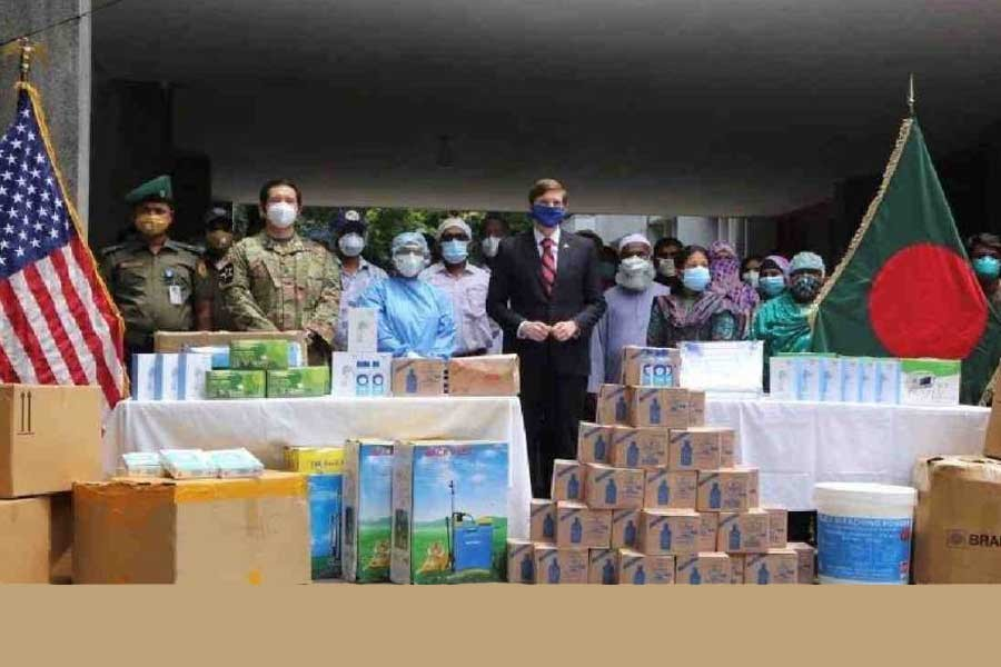 US provides more medical supplies to BD to fight coronavirus