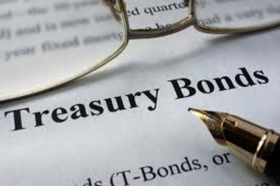 Interest on treasury bond rises slightly