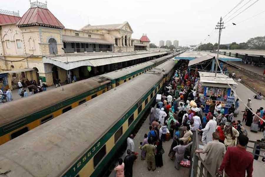 A general view of the Cantonment railway station in Pakistan –Reuters file photo