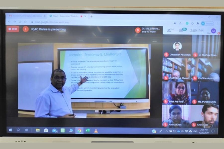 First-ever Online Orientation Workshop for faculty members held at IUB