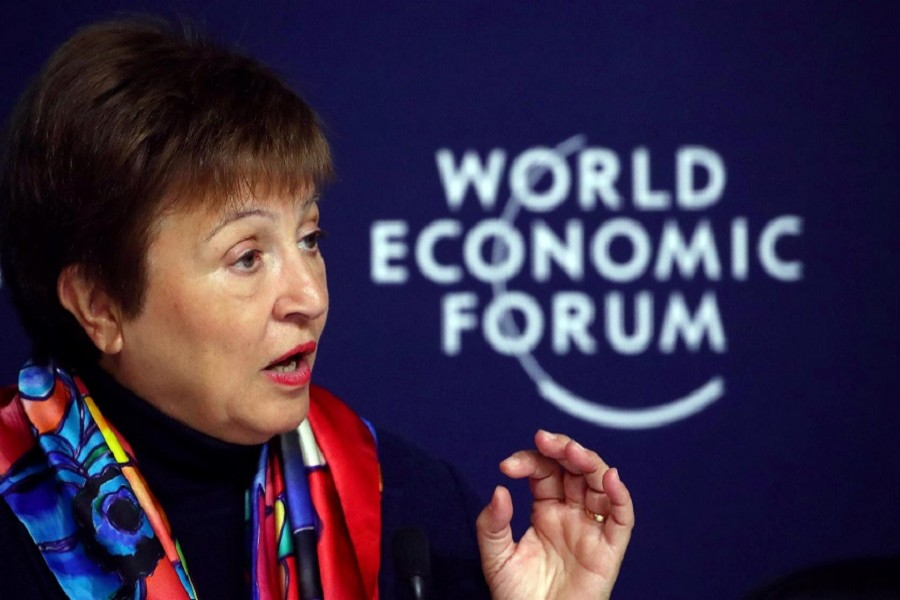 IMF Managing Director Kristalina Georgieva attends a news conference ahead of the World Economic Forum (WEF) in Davos, Switzerland, January 20, 2020 — Reuters/Files