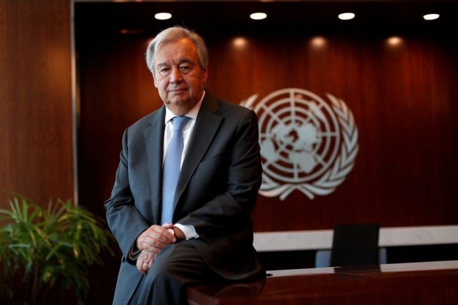 United Nations Secretary-General Antonio Guterres poses for a photograph during an interview with Reuters at UN headquarters in New York City, New York, US, September 14, 2020 — Reuters/Files